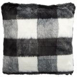 "Storehouse Buffalo Plaid Faux-Fur Throw Pillow - 20x20"""