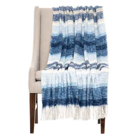 "Storehouse Heirloom Mohair Throw Blanket - 50x60"" in Blue - Closeouts"