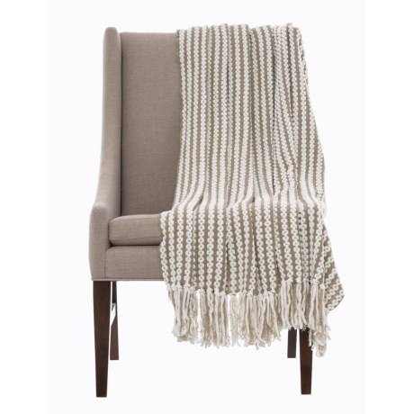 """Storehouse Nautical Chenille Throw Blanket - 50x60"""" in Taupe"""