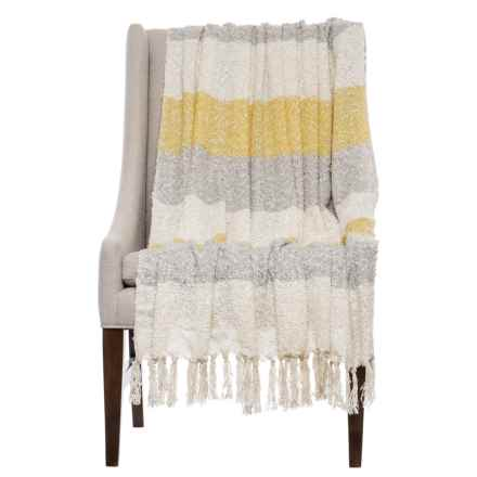 Storehouse Striped Boucle Throw Blanket   50x60u201d In Snapdragon   Closeouts