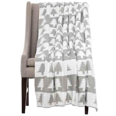 Storehouse Tree Throw Blanket   50x60u201d In Vapor Blue   Closeouts