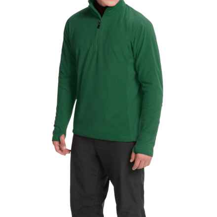 Storm Creek Bjorn Microfleece Jacket - Zip Neck (For Men) in Everglade - Closeouts