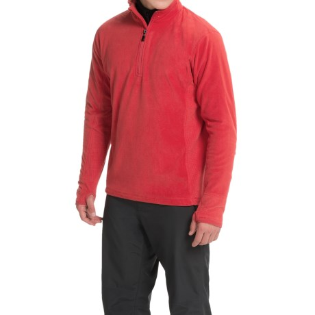Storm Creek Bjorn Microfleece Jacket - Zip Neck (For Men) in Scarlet Red