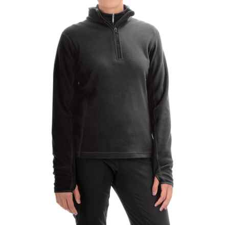 Storm Creek Brita Microfleece Jacket - Zip Neck (For Women) in Black - Closeouts