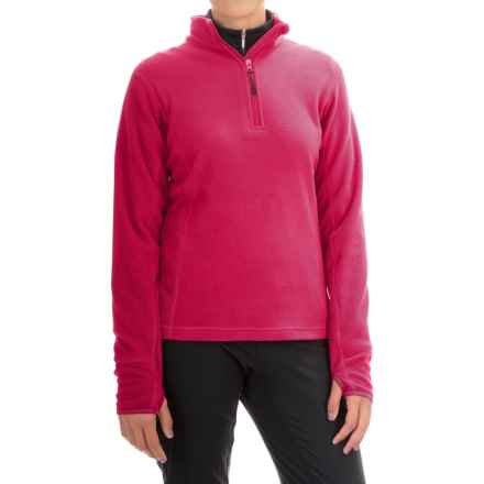 Storm Creek Brita Microfleece Jacket - Zip Neck (For Women) in Cranberry - Closeouts