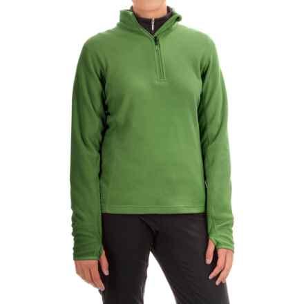 Storm Creek Brita Microfleece Jacket - Zip Neck (For Women) in Green Tea - Closeouts