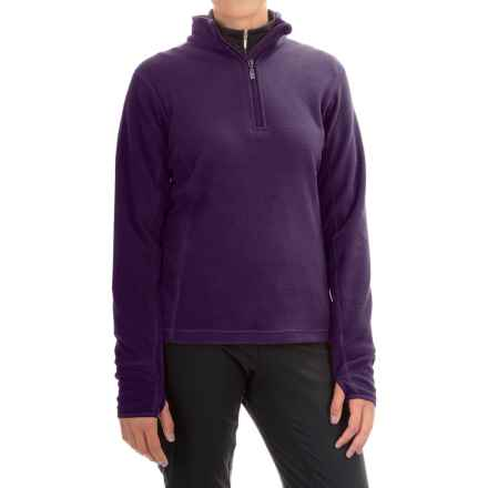Storm Creek Brita Microfleece Jacket - Zip Neck (For Women) in Nightshade - Closeouts