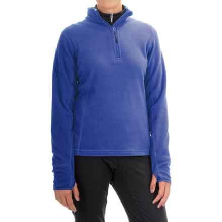 Storm Creek Brita Microfleece Jacket - Zip Neck (For Women) in Sapphire - Closeouts