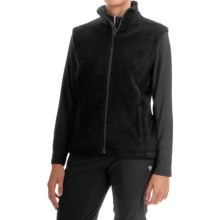 Storm Creek Ella Chenille Fleece Vest (For Women) in Black - Closeouts