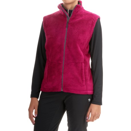Storm Creek Ella Chenille Fleece Vest (For Women) in Cranberry