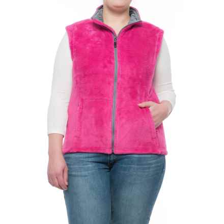 Storm Creek Ella Chenille Fleece Vest (For Women) in Wildberry - Closeouts