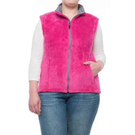 Storm Creek Ella Chenille Fleece Vest (For Women) in Wildberry - Closeouts