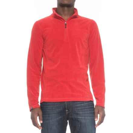 Storm Creek Lars Fleece Shirt - Zip Neck, Long Sleeve (For Men) in Brick - Closeouts