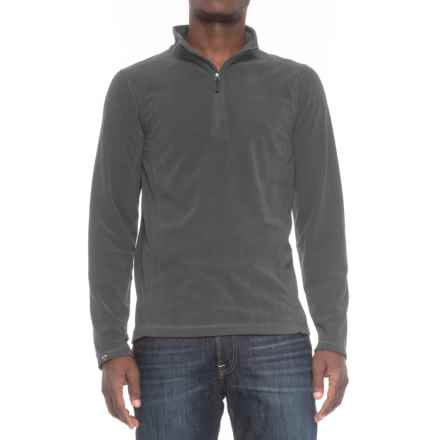 Storm Creek Lars Fleece Shirt - Zip Neck, Long Sleeve (For Men) in Jet - Closeouts