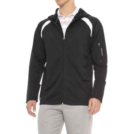 Stormtech Flex High-Performance Golf Hoodie - Front Zip (For Men) in Black/White - Closeouts