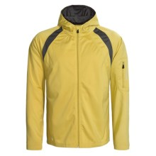 Stormtech High-Performance Hoodie Jacket - Full Zip (For Men) in Gold/Charcoal - Closeouts