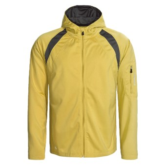 Stormtech High-Performance Hoodie Jacket - Full Zip (For Men) in Gold/Charcoal