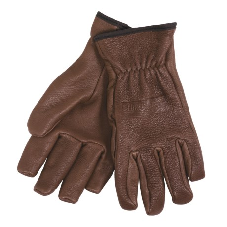 Stormy Kromer George Deerskin Gloves (For Men) in Acorn
