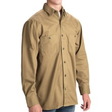 Stormy Kromer Solid Cotton Twill Shirt - Long Sleeve (For Men) in Khaki - Closeouts