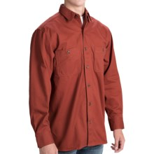 Stormy Kromer Solid Cotton Twill Shirt - Long Sleeve (For Men) in Redwood - Closeouts