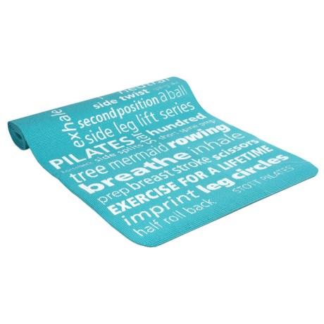Stot Pilates Stott Pilates Inspiration Pilates and Yoga Mat - 6mm in Teal