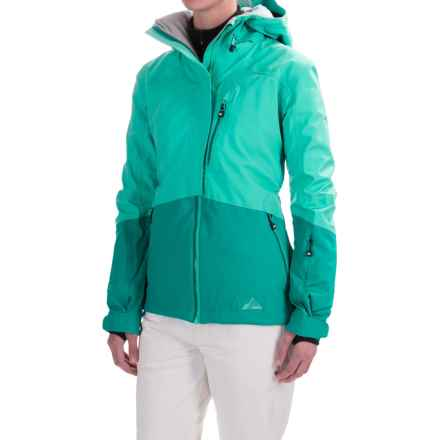 Strafe Cloud Nine Jacket - Waterproof, Insulated (For Women) in Aqua/Fanfare - Closeouts