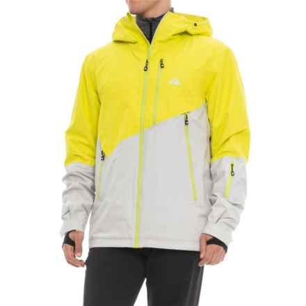 Strafe Exhibition FX Polartec® NeoShell® Ski Jacket - Waterproof, Insulated (For Men) in Sulphur Spring/Glacier Gray - Closeouts
