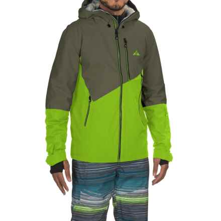 Strafe Exhibition Polartec® Ski Jacket - Waterproof, Insulated (For Men) in Smoked Pearl/Jasmine Green - Closeouts