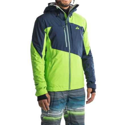 Strafe Highlands Polartec® Ski Jacket - Waterproof, Insulated (For Men) in Jasmine Green/Peacoat - Closeouts