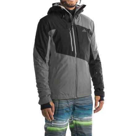 Strafe Highlands Polartec® Ski Jacket - Waterproof, Insulated (For Men) in Smoked Pearl/Caviar - Closeouts