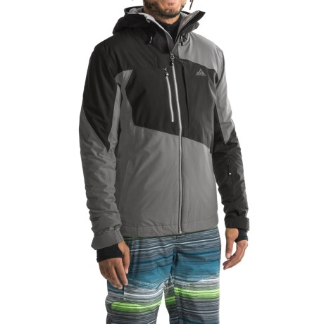 Strafe Highlands Polartec® Ski Jacket - Waterproof, Insulated (For Men) in Smoked Pearl/Caviar