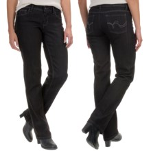 Straight-Leg Jeans - Low Rise (For Women) in Black - 2nds