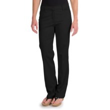 Straight Leg Pants - Stretch Cotton (For Women) in Black - 2nds