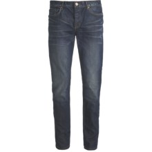 Straight Leg Skinny Jeans - Button Fly (For Men) in Newman Wash - Closeouts