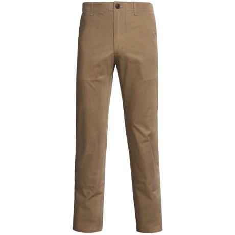 Straight-Leg Twill Pants (For Men) in Khaki