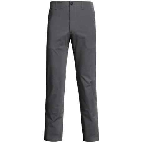 Straight-Leg Twill Pants (For Men) in Slate