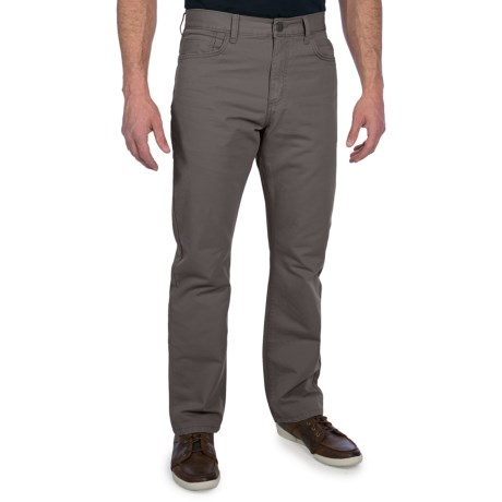 Straight Leg Twill Pants (For Men) in Slate