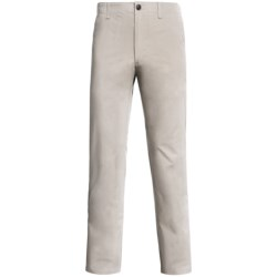 Straight-Leg Twill Pants (For Men) in Stone