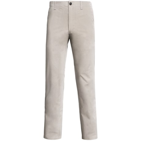 Straight-Leg Twill Pants (For Men) in Khaki