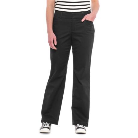 Straight-Leg Twill Pants (For Women) in Black