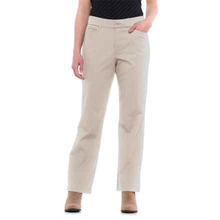 Straight-Leg Twill Pants (For Women) in Sand - 2nds
