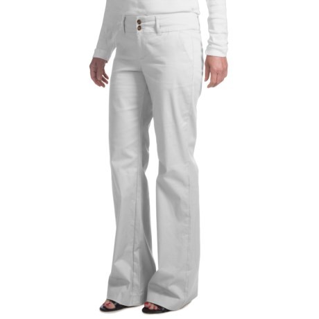 Stretch Bootcut Dress Pants (For Women) in White