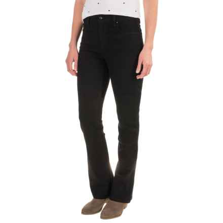 Stretch Bootcut Jeans (For Women) in Black - 2nds