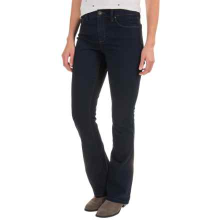 Stretch Bootcut Jeans (For Women) in Navy - 2nds