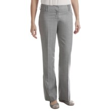 Stretch Broken Stripe Dress Pants - Straight Leg (For Women) in Grey - 2nds