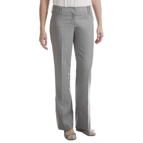Stretch Broken Stripe Dress Pants - Straight Leg (For Women) in Grey