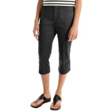 Stretch Cotton Capris (For Women) in Black - 2nds