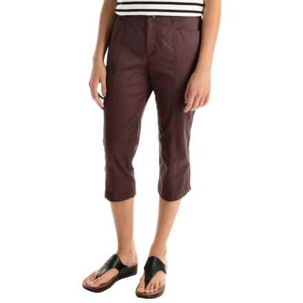 Stretch Cotton Capris (For Women) in Coffee - 2nds