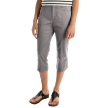 Stretch Cotton Capris (For Women) in Grey - 2nds