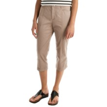 Stretch Cotton Capris (For Women) in Khaki - 2nds